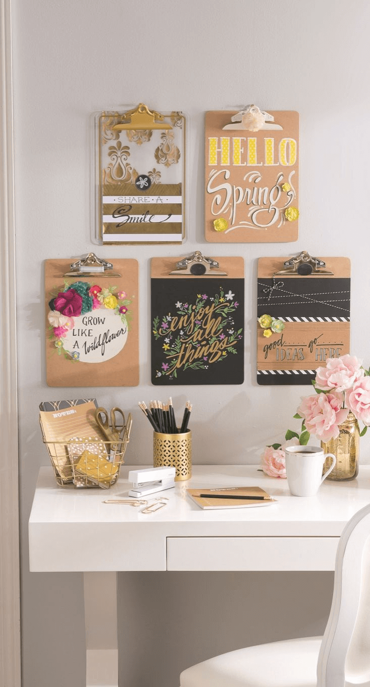 Wood Photo Clipboards Home Decor