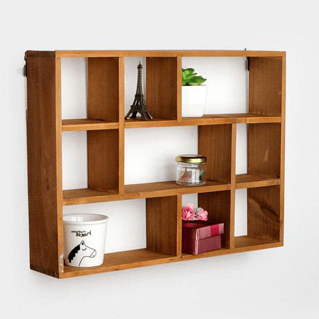 Wooden shelves home decor ideas