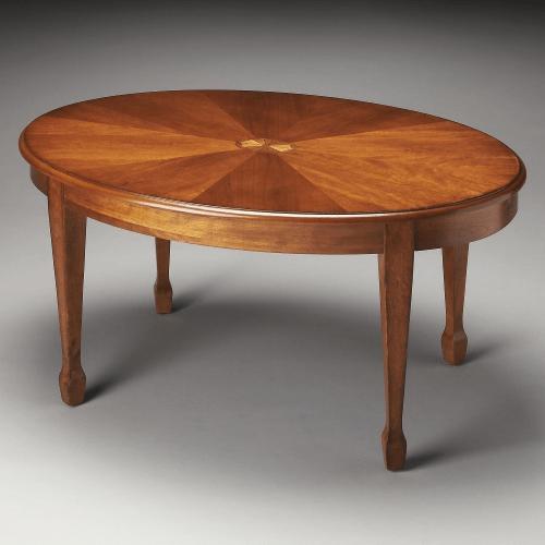 Ash Wood Oval Modular Coffee Table