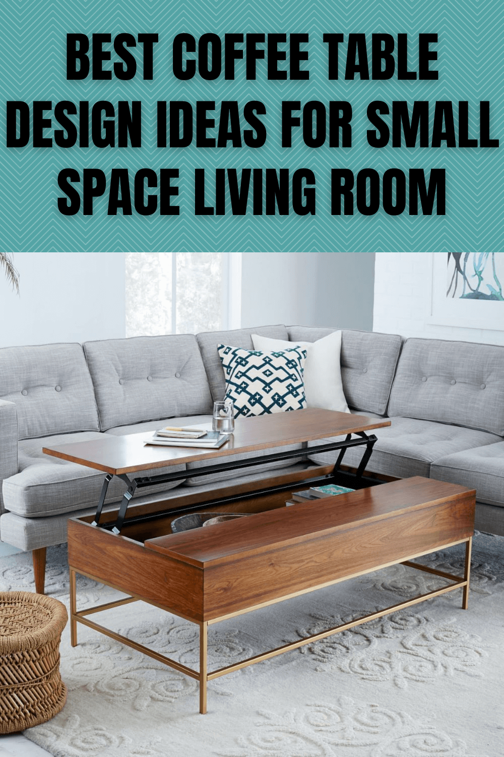 BEST COFFEE TABLE DESIGN IDEAS FOR SMALL SPACE LIVING ROOM