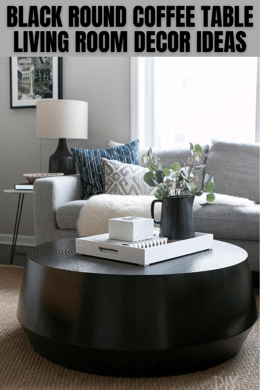 BLACK ROUND COFFEE TABLE LIVING ROOM DECOR IDEAS