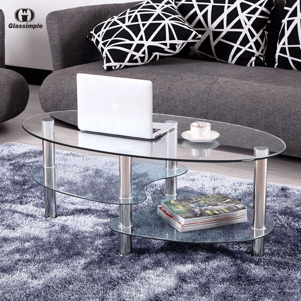 Clear Coffee Table for small space living room