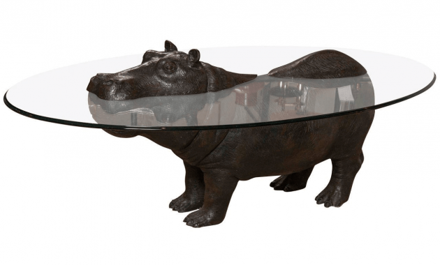 Oval Glass Top Hippo Coffee Table Design EasyHomeTipsorg - Hippo coffee table