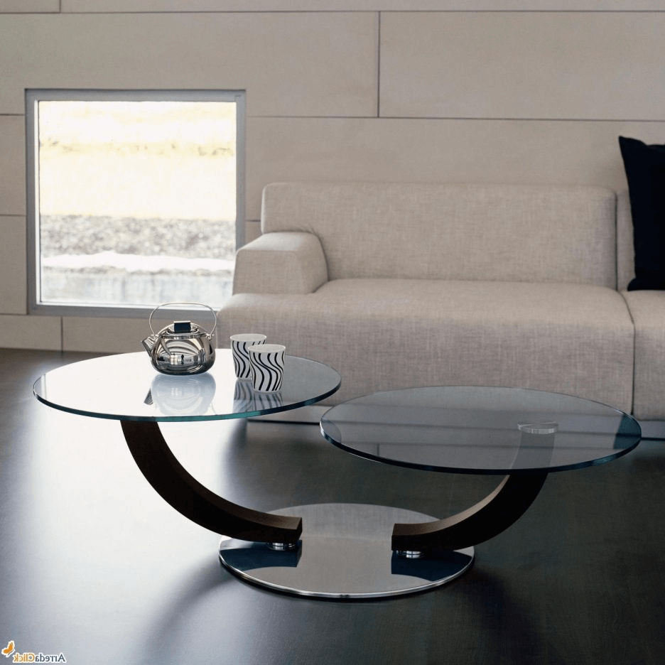 Interesting design round coffee table for living room