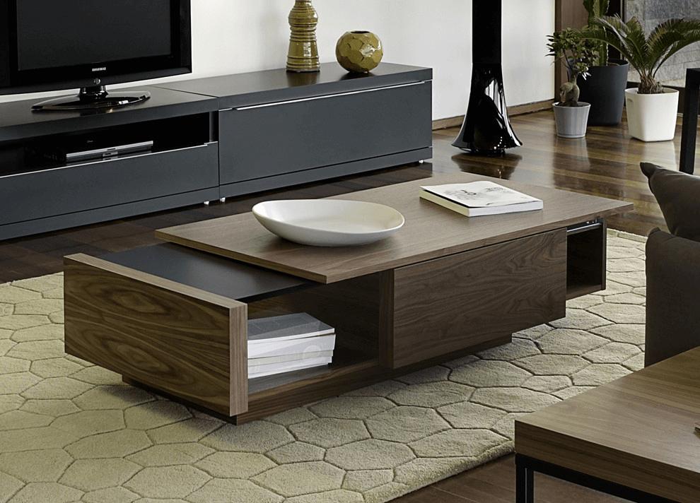Modern wood coffee table design