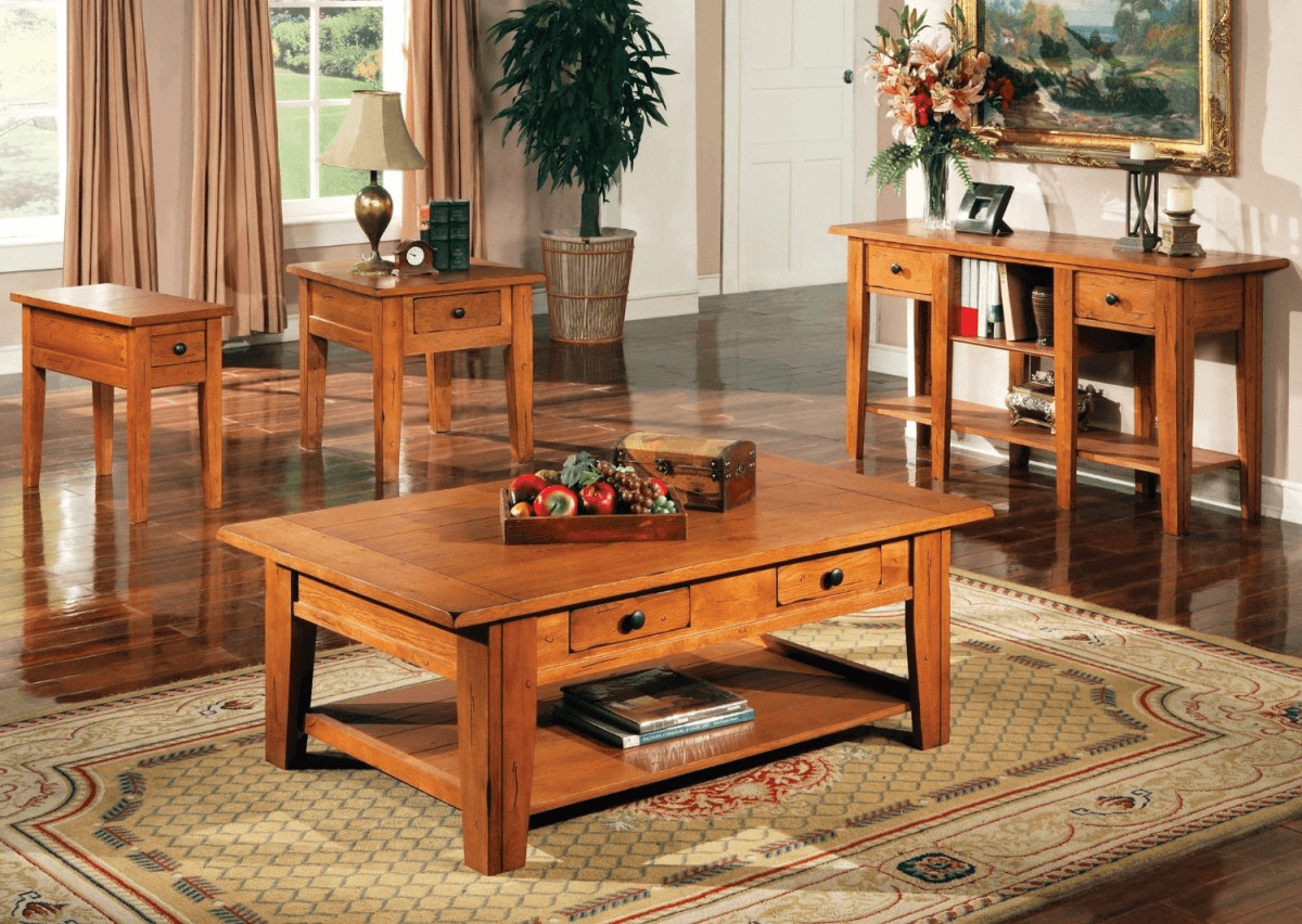 Rustic natural wood coffee table design ideas