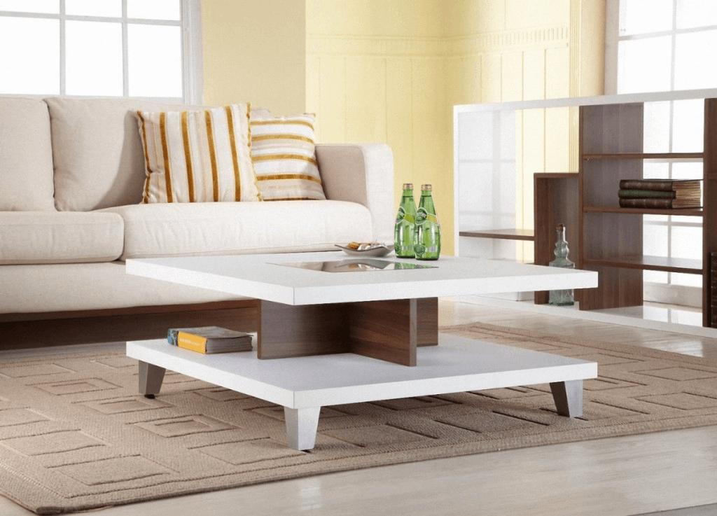 Square white wood coffee table design ideas
