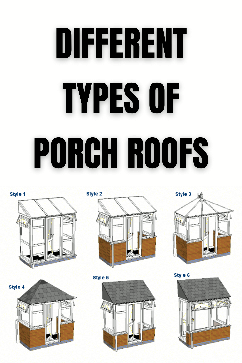 DIFFERENT TYPES OF PORCH ROOFS