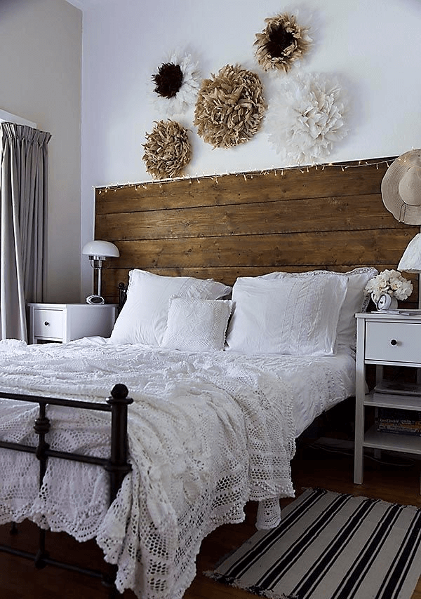 Farmhouse bedroom decor ideas old and new combination