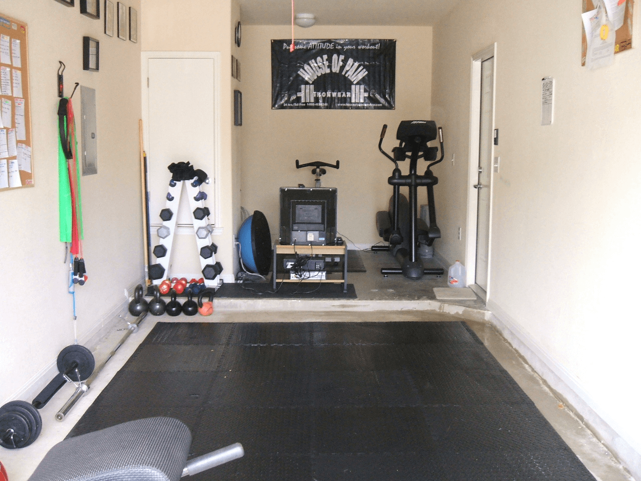 Garage to gym makeover ideas