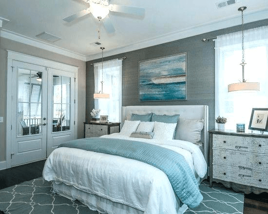 Gray and Blue Bedroom Wall Color Ideas