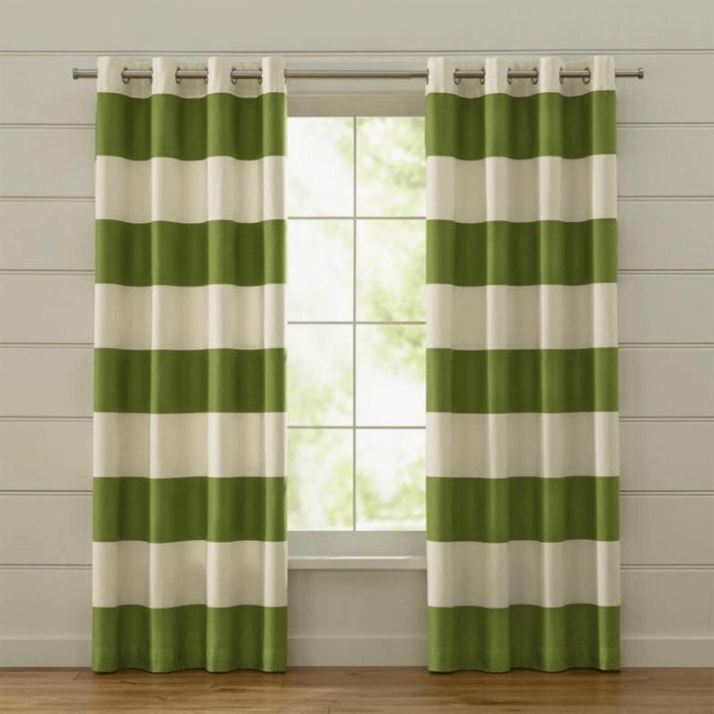 Green curtain for modern living room design