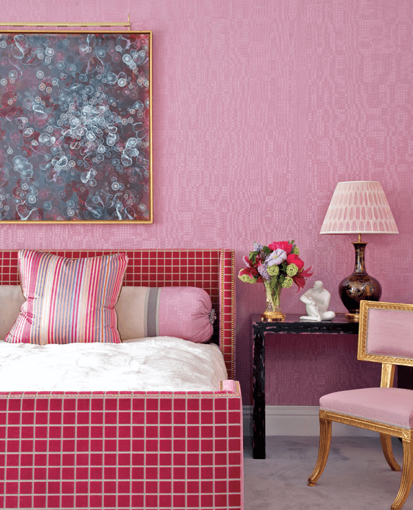 Luxurious Fuschia Bedroom Wall color ideas