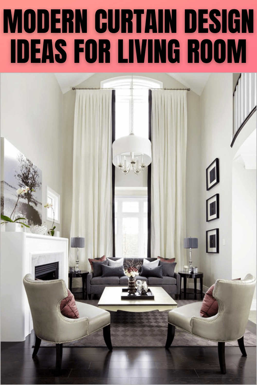 MODERN CURTAIN DESIGN IDEAS FOR LIVING ROOM