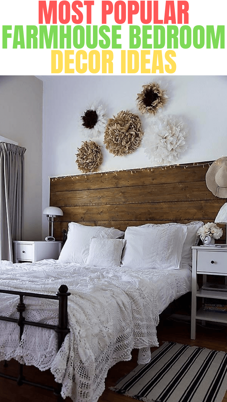 MOST POPULAR FARMHOUSE BEDROOM DECOR IDEAS