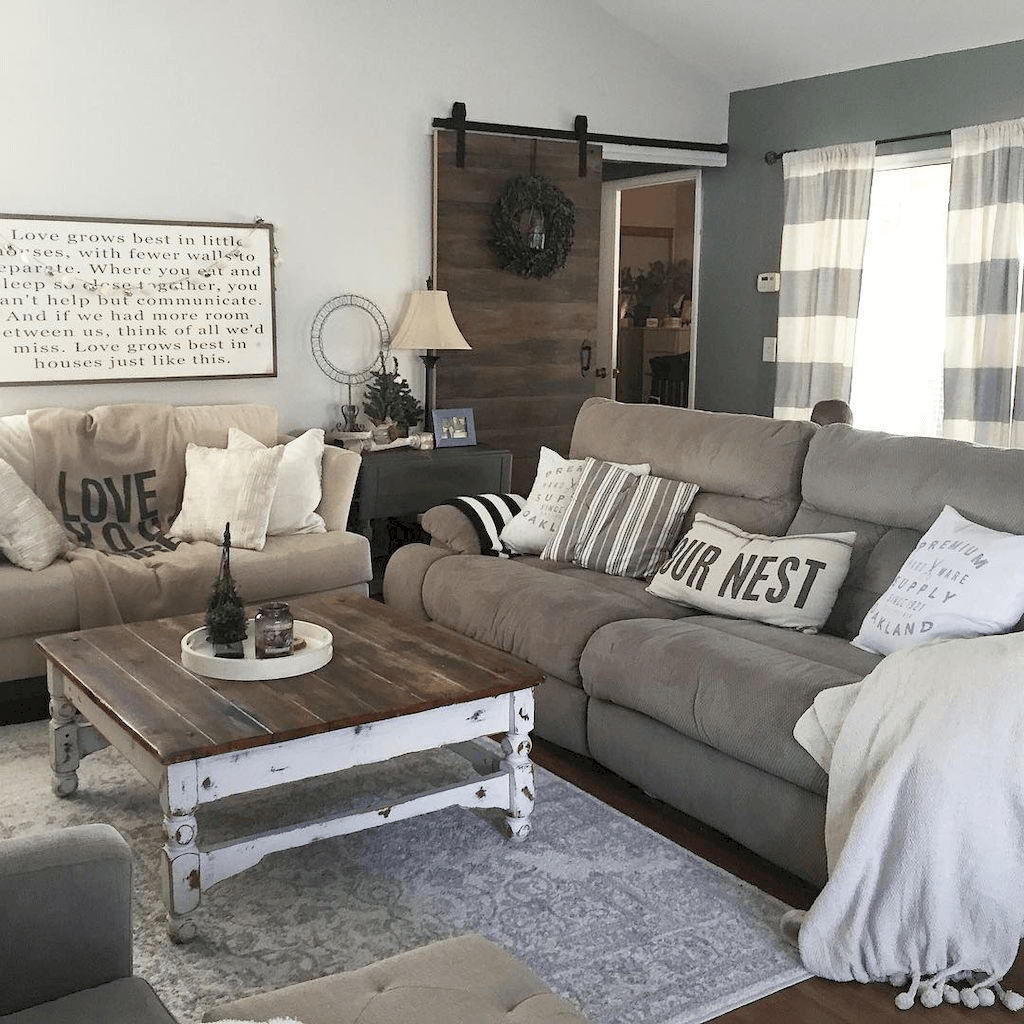 Rustic Farmhouse Living Room Decor Ideas