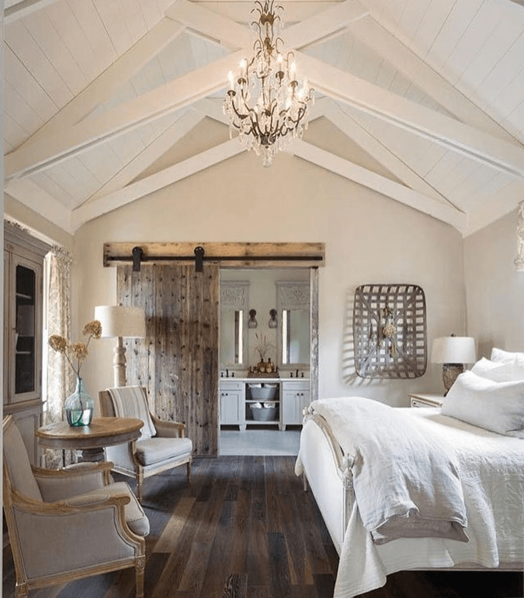 Rustic farmhouse master bedroom decor ideas
