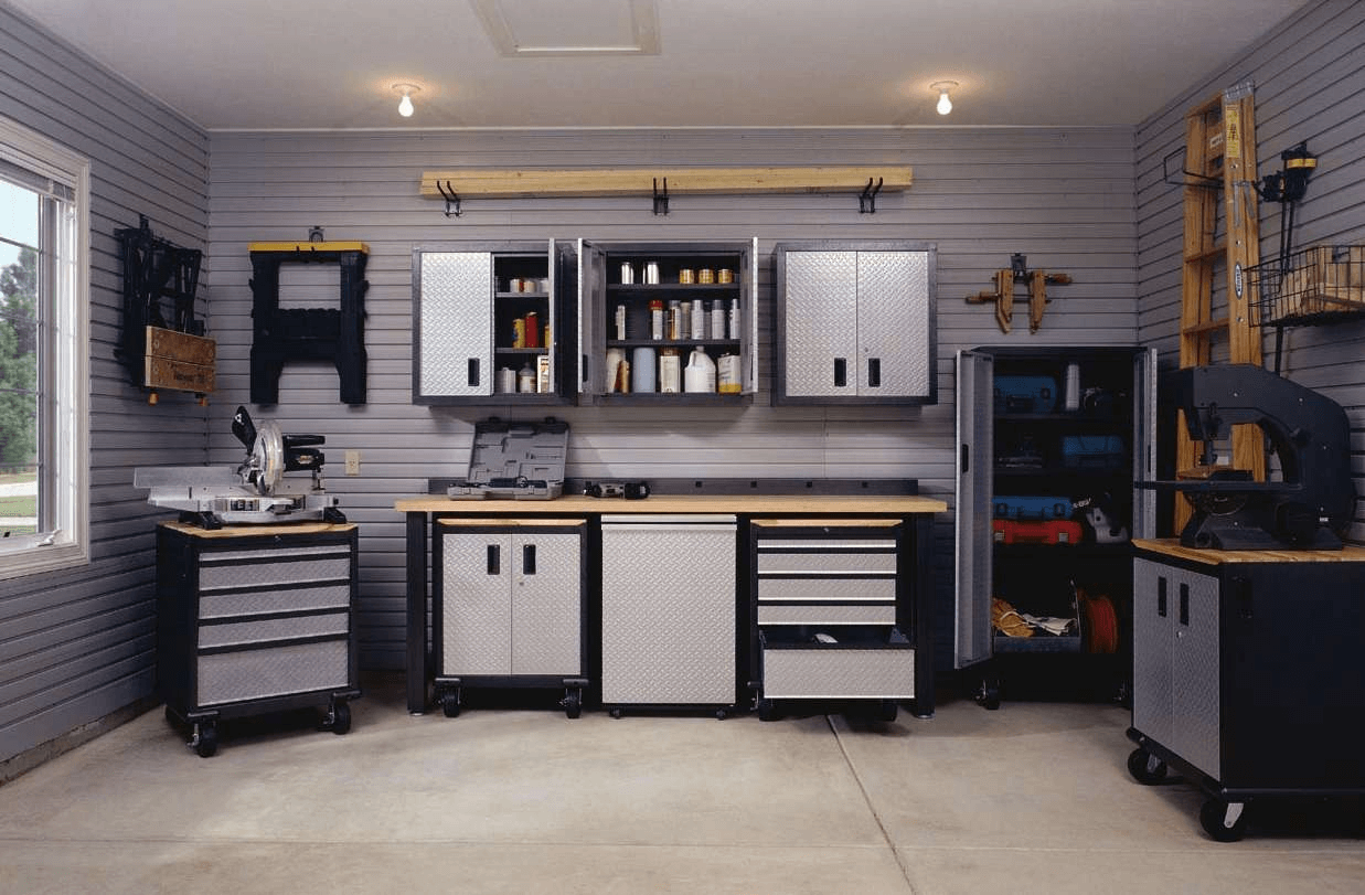 Small garage shelving storage ideas