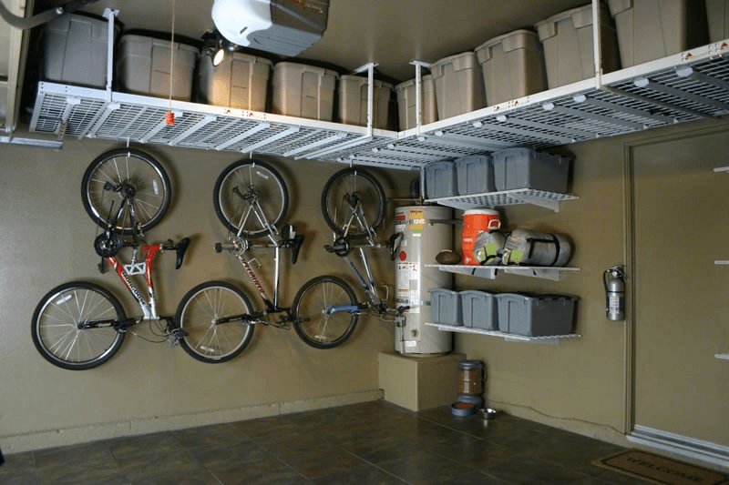 Small garage storage systems