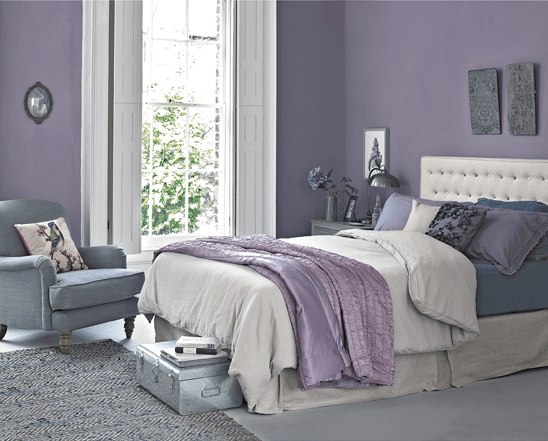 Soft Lilac bedroom wall color ideas