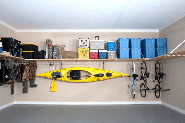 Wall Of Shelves And Wires for Creative Garage design ideas