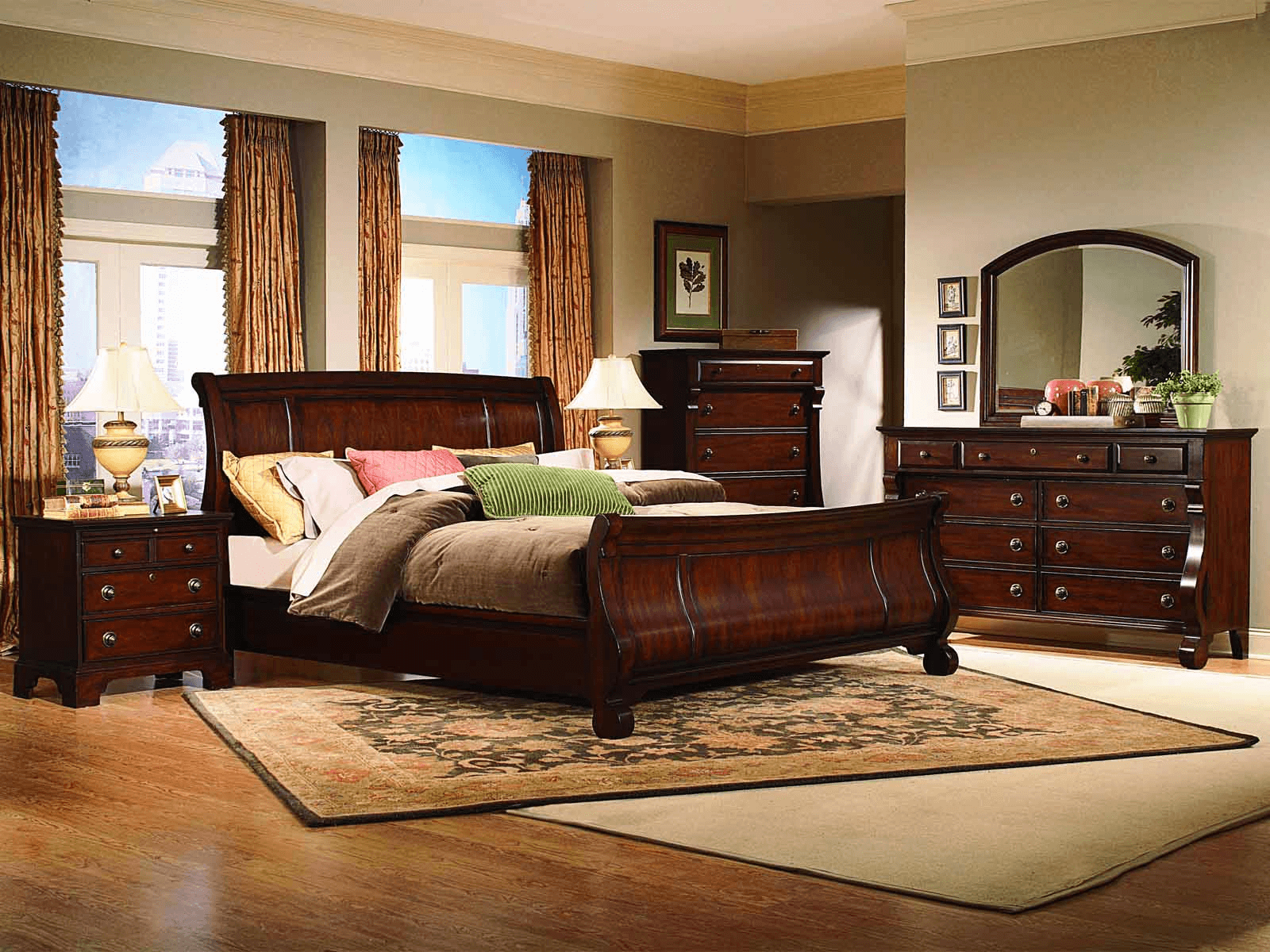 Bedroom decorating ideas with oak furniture