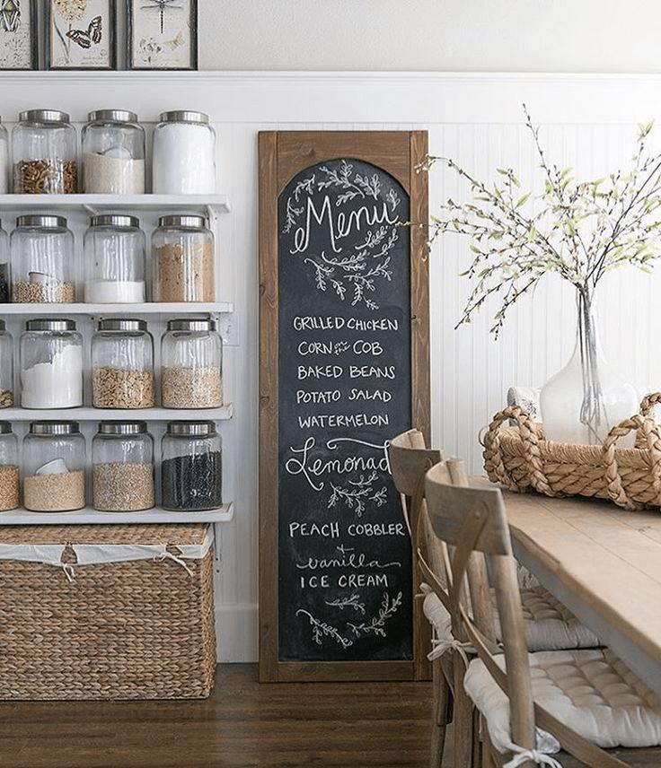 Interesting kitchen menu board for decoration