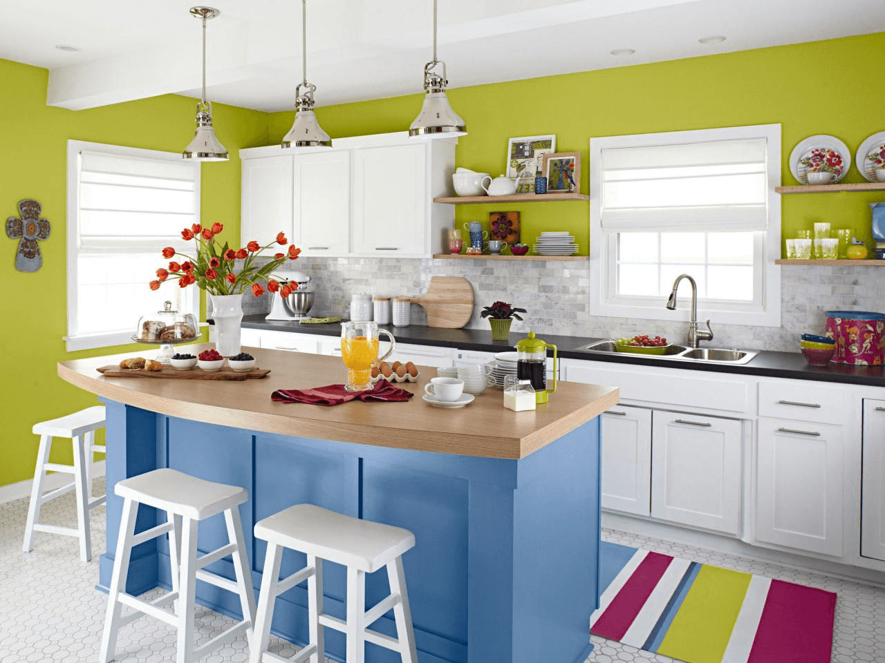 Mini dining table kitchen island design for small spaces