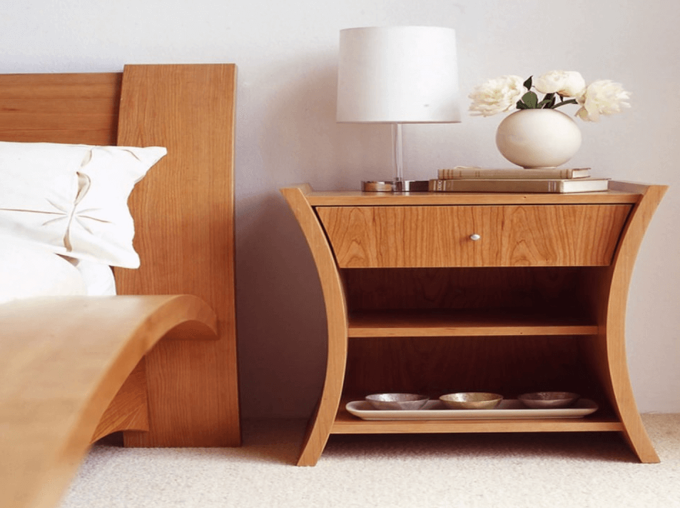 Nice natural furniture sets. Bedside Tables for large bedroom