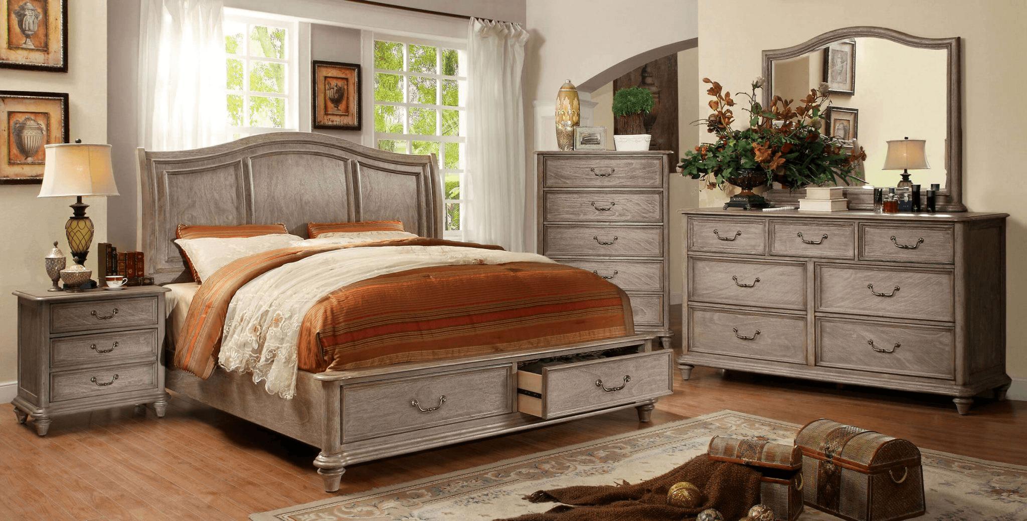 Rustic design bedroom furniture sets