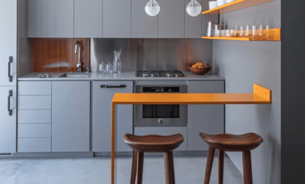 Simple Wall Floating Kitchen Island