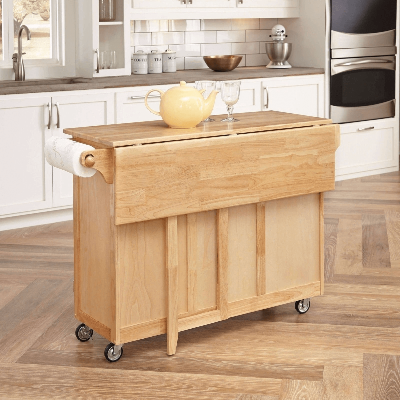 The Folded Table Kitchen island for small spaces