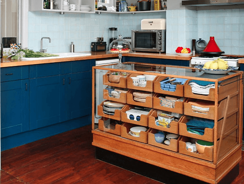 Tiny dining table kitchen island for small spaces