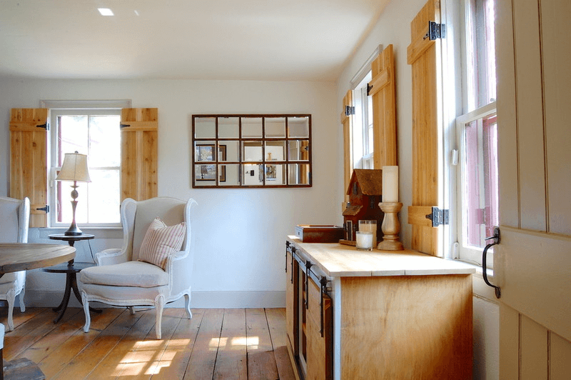 Barn Wood Window Shutter Indoors