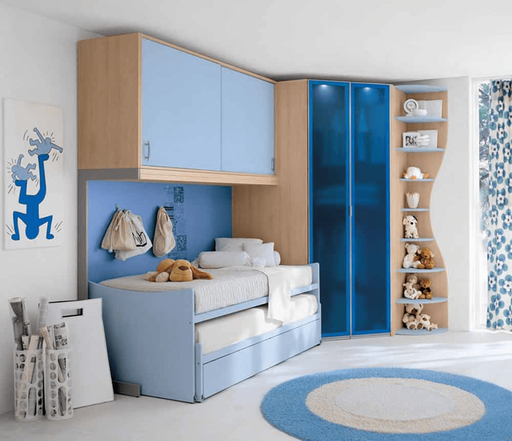 Blue Boy room ideas for small spaces