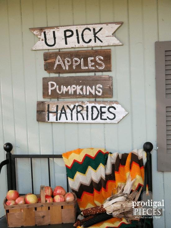 DIY Fall Harvest Sign Decor Ideas