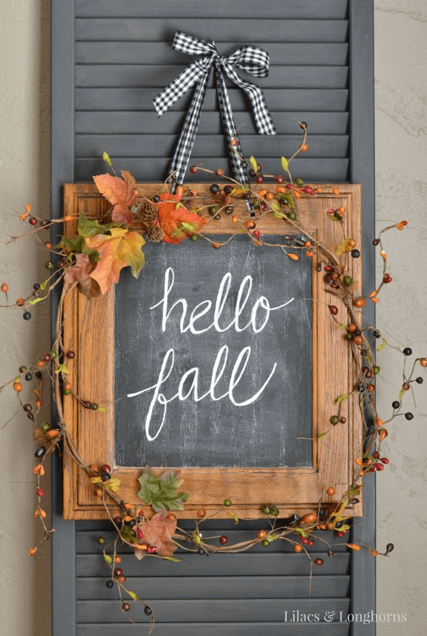 Easy diy hello fall sign