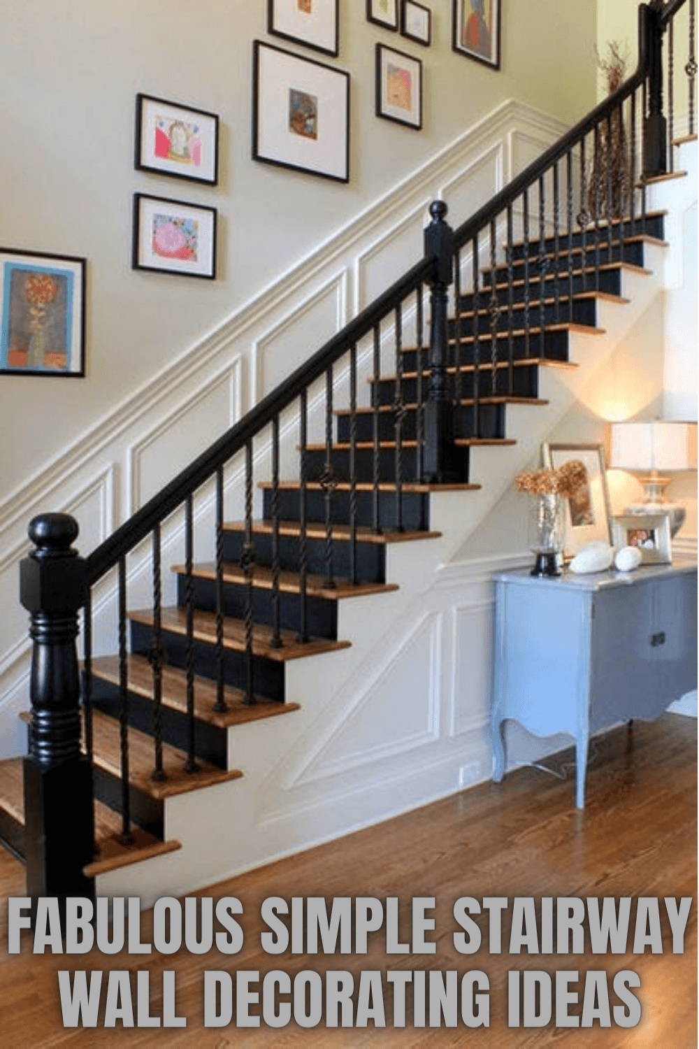 FABULOUS SIMPLE STAIRWAY WALL DECORATING IDEAS