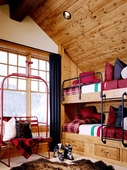 Ski cabin bedroom decorating ideas