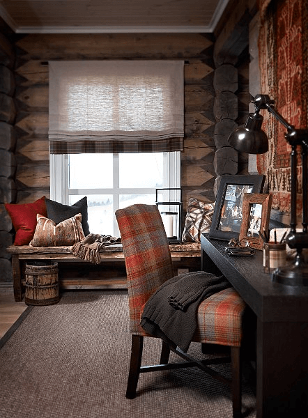 Ski cabin room decor ideas with right lighting