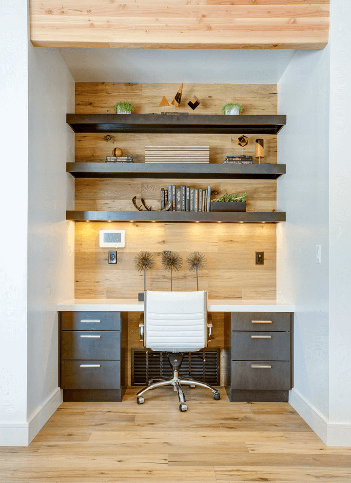 Storage wall small home office ideas