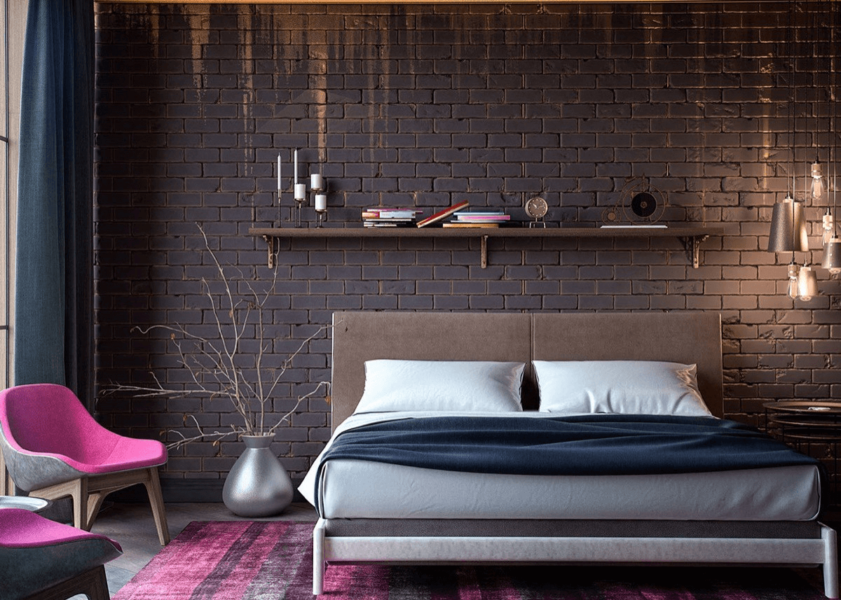 Wall art exposed brick wall decorating ideas for bedroom
