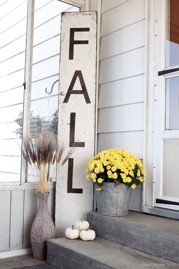 Welcome Giant Distressed Fall Sign Porch Decoration Ideas