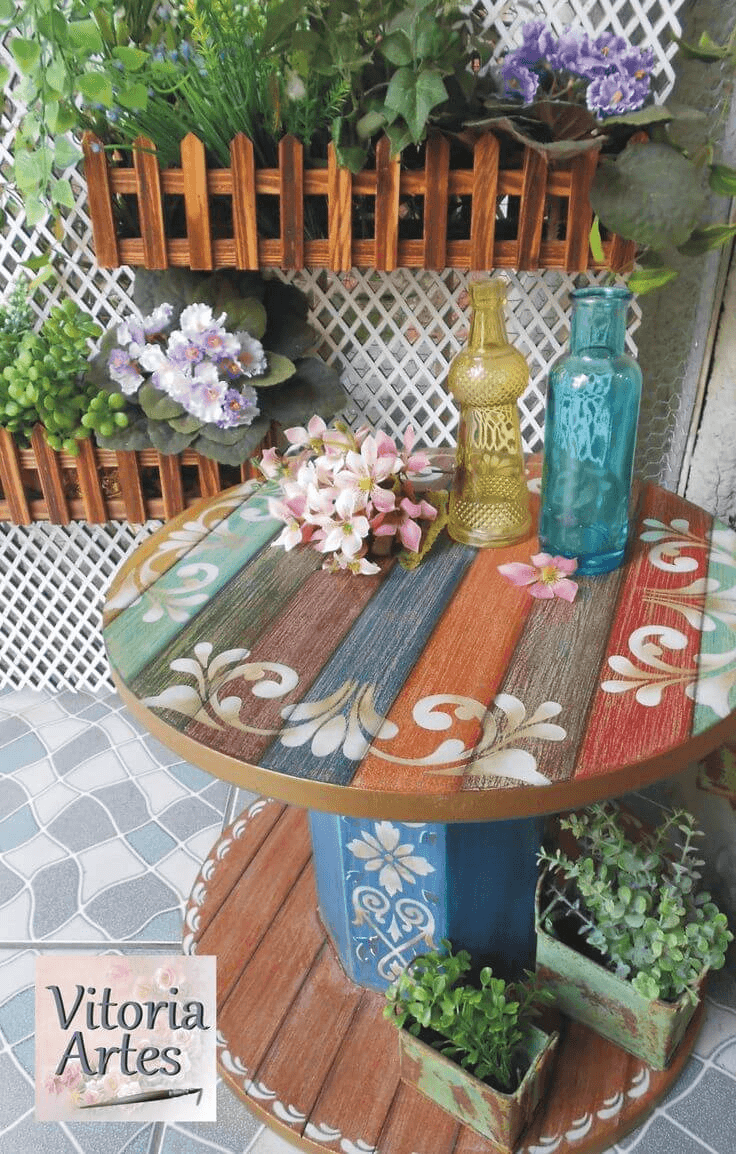 Wooden repurposed front porch decorating ideas for summer