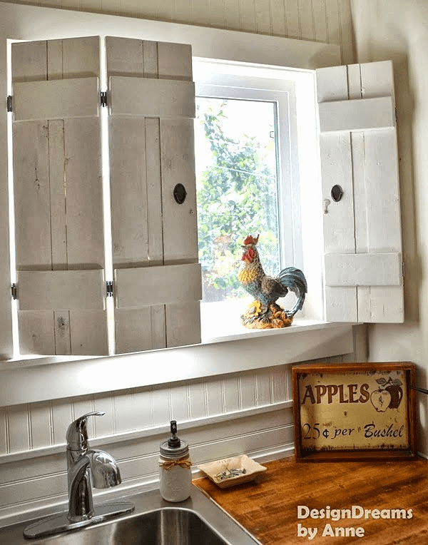 Wooden window shutters interior diy