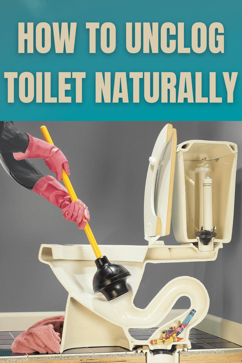 HOW TO UNCLOG TOILET NATURALLY