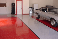 Interesting red white garage floor paint colors
