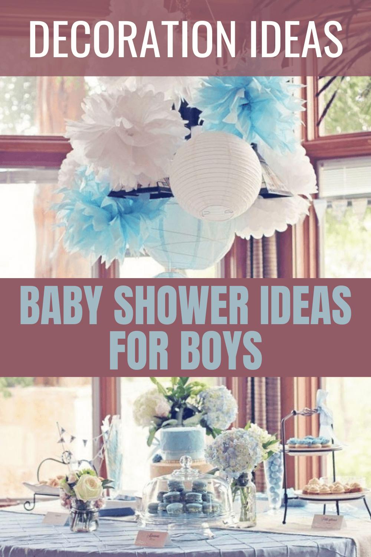 BABY SHOWER DECOR IDEAS FOR BOYS