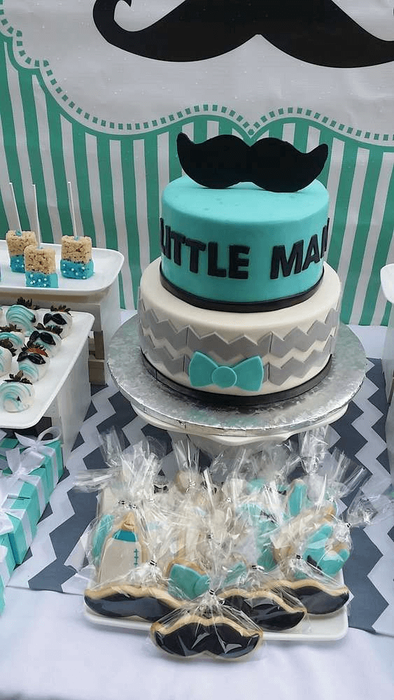 Baby Shower Ideas for Boys Mustache Bash Theme