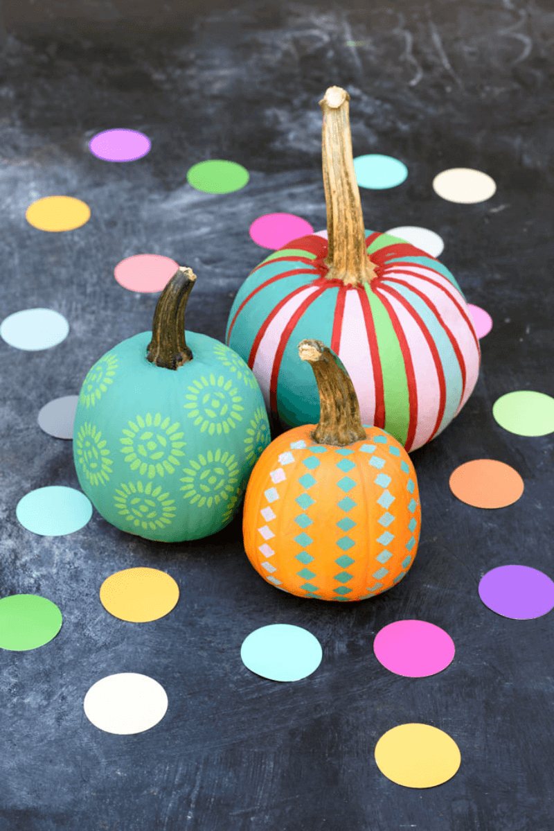 Colorful pumpkin painting ideas for kids